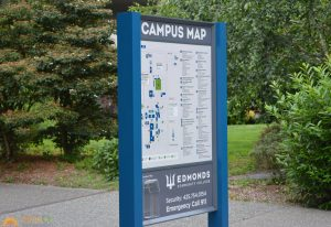 wayfinding post panel sign
